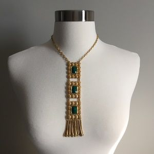Joan Rivers Faceted Stone Fringe Necklace